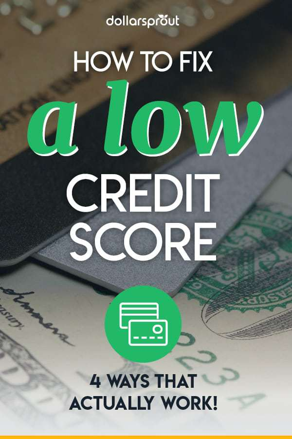 four ways to start fixing your credit score