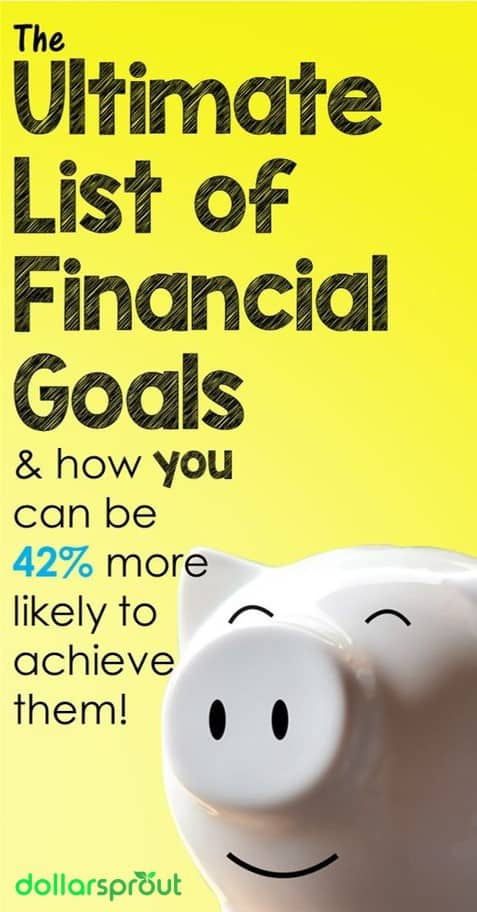 list of financial goals examples