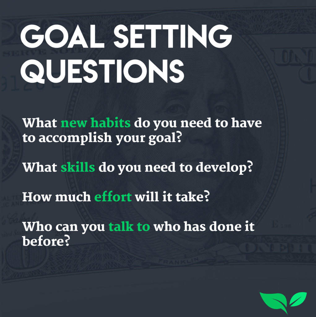 When setting a goal start by asking yourself these 4 questions