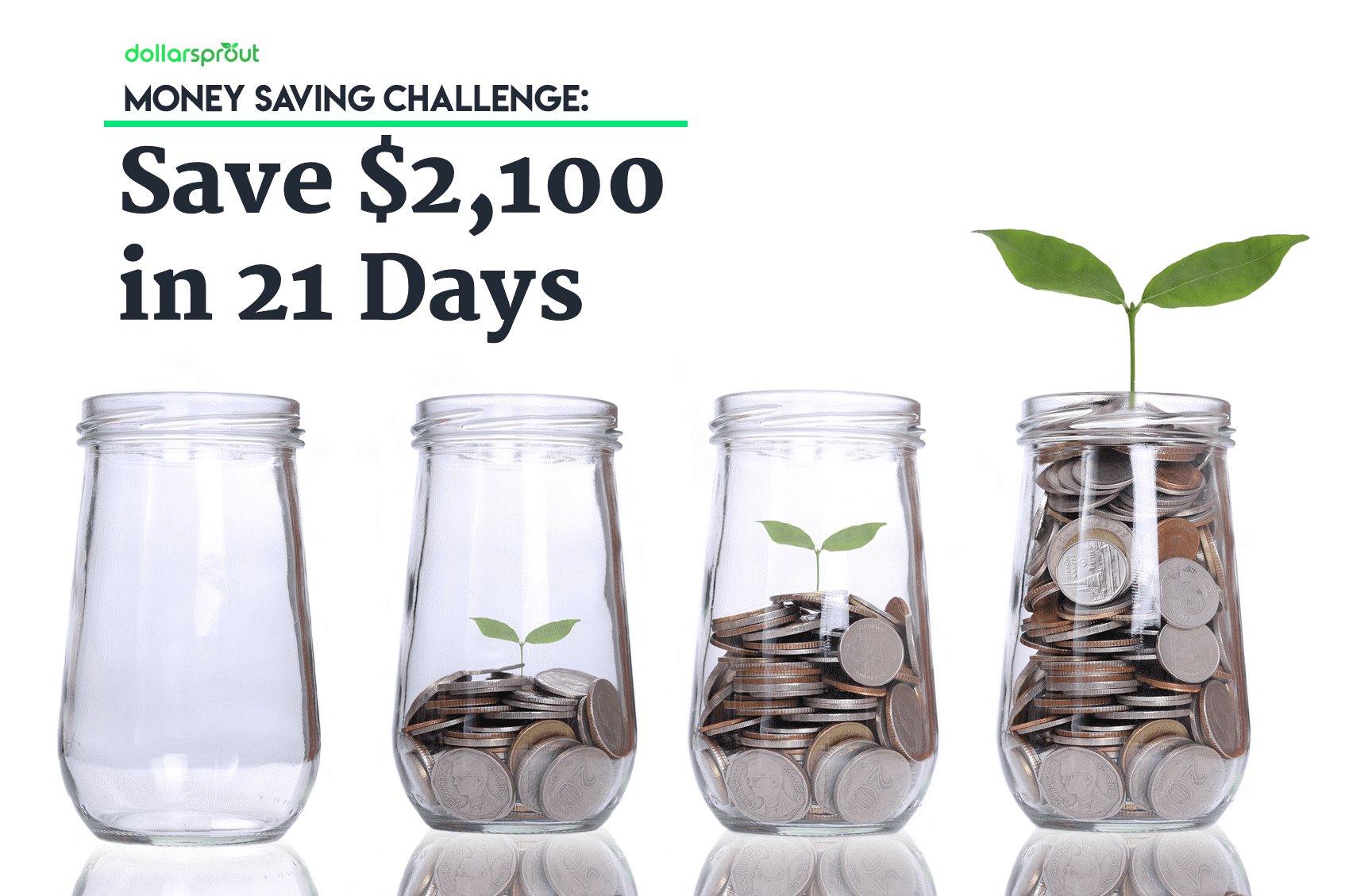 Even if you fall short, participating in the money saver challenge helps you build the habits of a lifelong saver