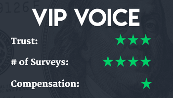 VIP Voice | One of our best paid online surveys | Make money with paid survey sites