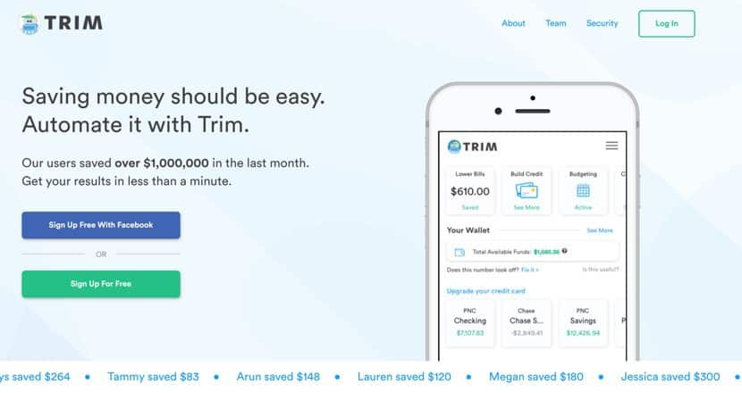Use Trim to find savings opportunities in your budget, and put that extra money towards gas.
