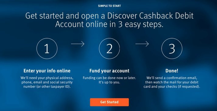 Discover Bank Checking Sign-Up Process