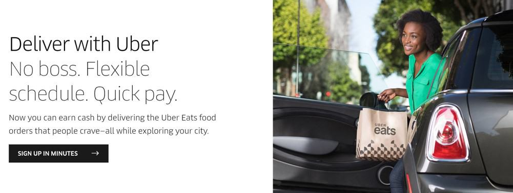 Deliver food and make money with the ubereats app