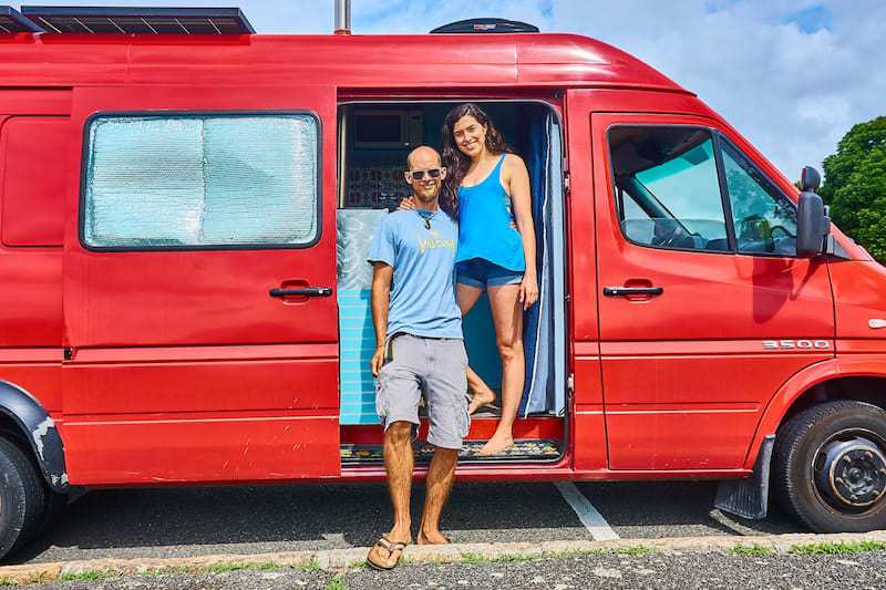 Matt and Alli Owen with Clifford the Van