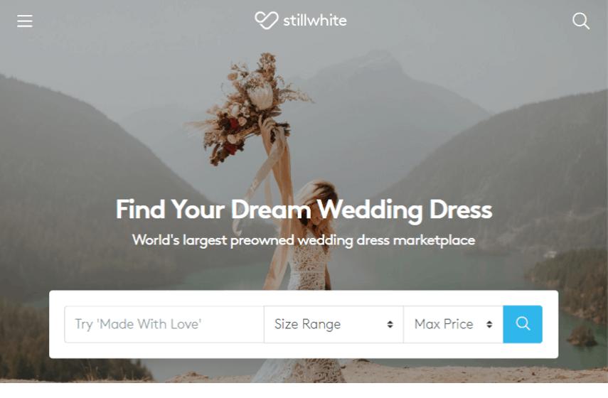 StillWhite website for selling wedding dresses online