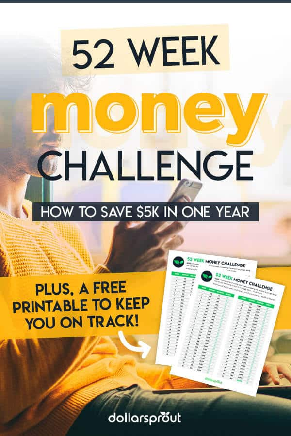 It's 2019 and our new edition of the money saving challenge chart is here! Get great money saving tips from a personal finance expert and learn how to save $5,000 in a year, no matter your income. Get your 52 week money challenge printable for FREE today!