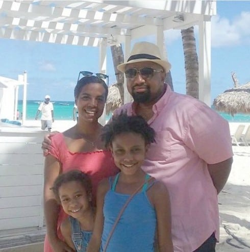 Aja McClanahan and Family at the Beach