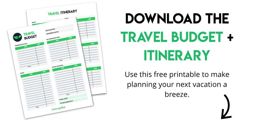 Free Printable Travel Budget and Itinerary