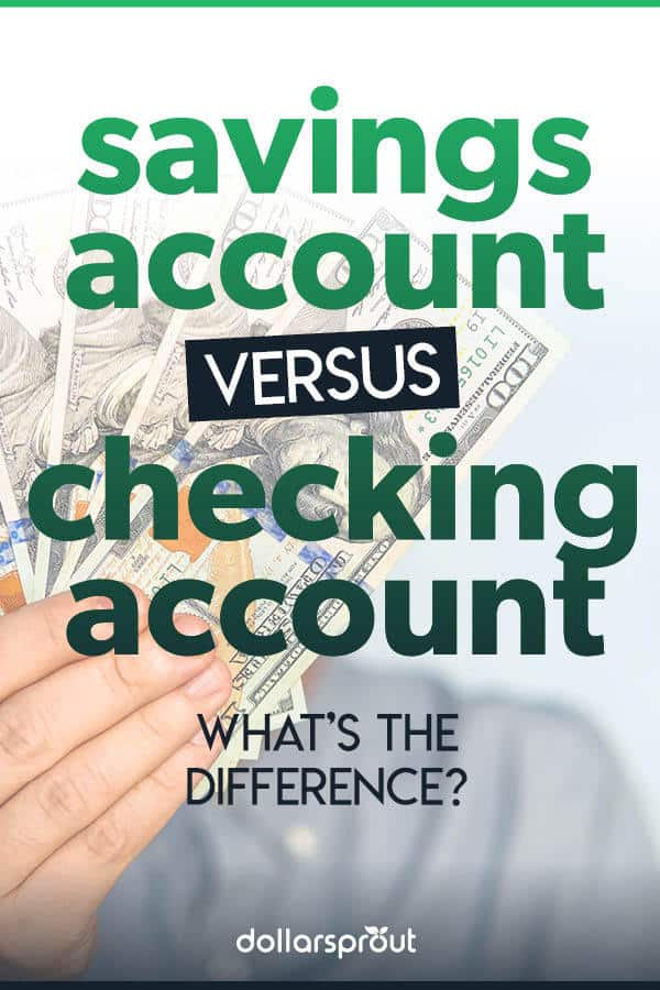 checking vs savings account differences
