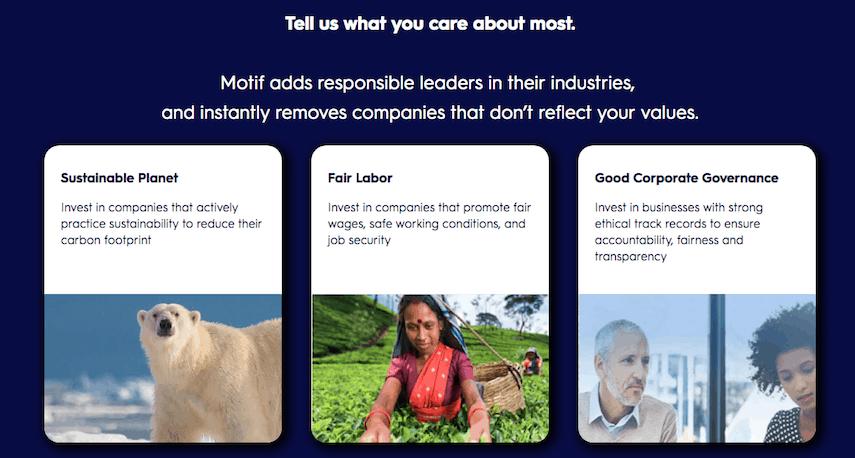 Motif Investing Impact Portfolios