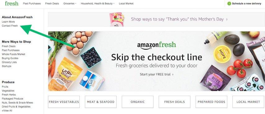 Contact Amazon Fresh