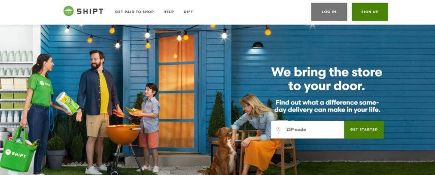 Homepage Shipt