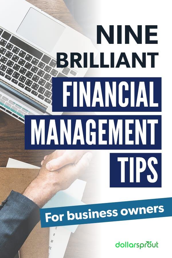 business financial management tips