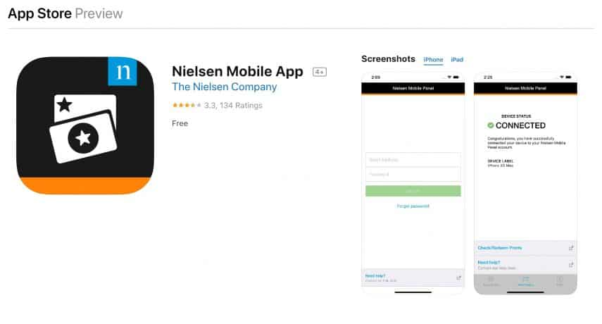 download the nielsen mobile app and earn $50 per year you have it installed