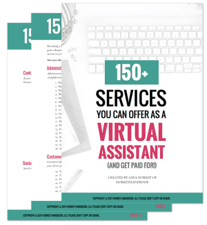 here are over 150 different services you can offer as a virtual assistant