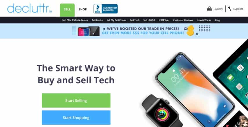 decluttr app can be used to sell things online