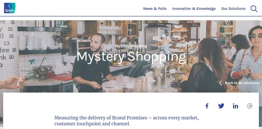 ipsos international mystery shopping