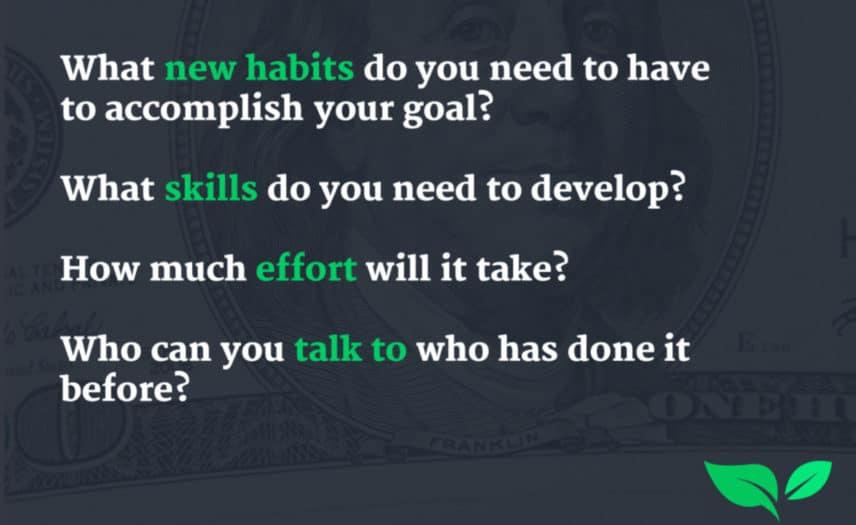 money mindset goals