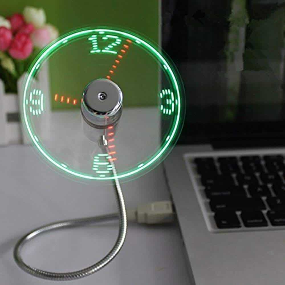 Clock Fan with Real-Time Display