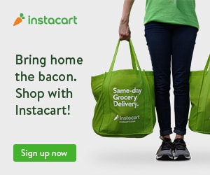 page d'inscription à instacart