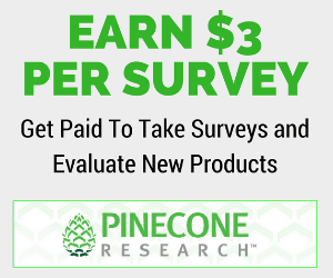 Earn $3 per survey with Pinecone Research