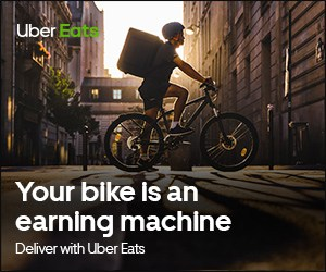 turn your bike into an earning machine with uber eats
