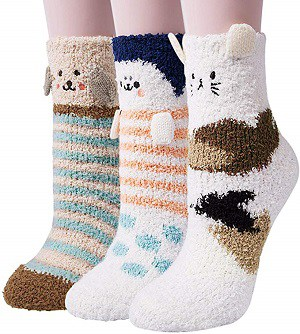 Best Christmas gifts for ladies: Cute Fuzzy Socks
