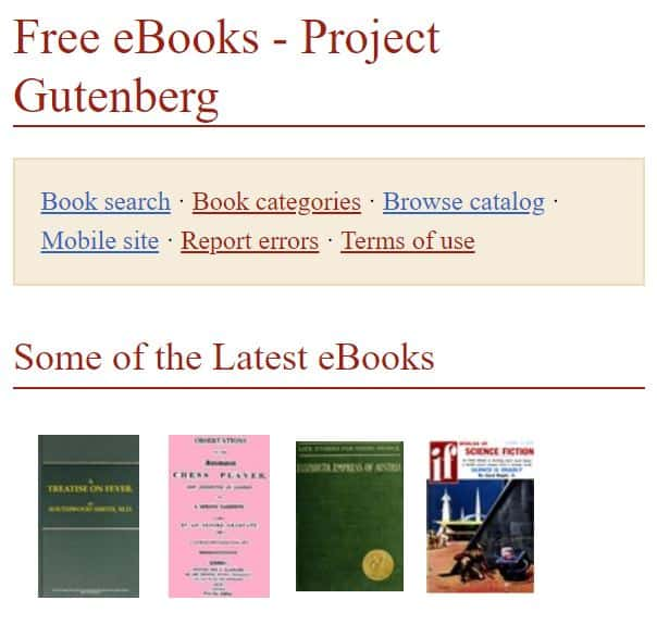 Free eBooks are made available through Project Gutenberg