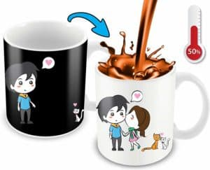 Heat-Changing Couples Cartoon Mug