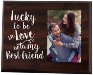 Lucky to Be in Love Romantic Gift Picture Frame