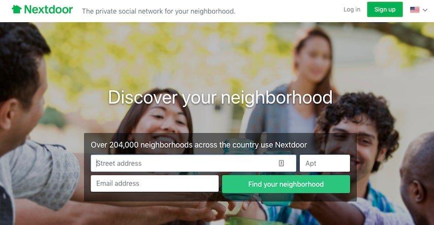 Nextdoor hompage
