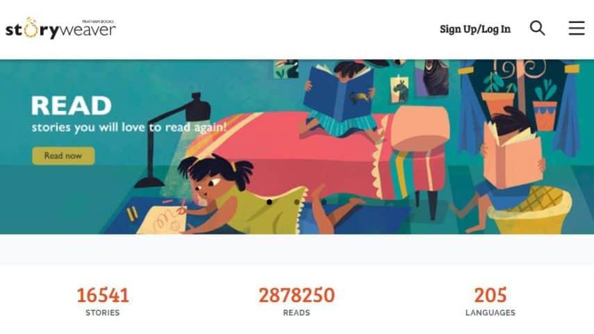 StoryWeaver homepage