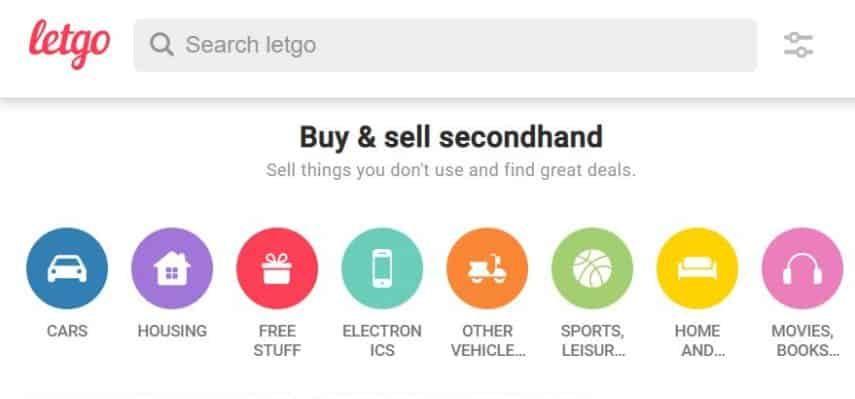Letgo homepage