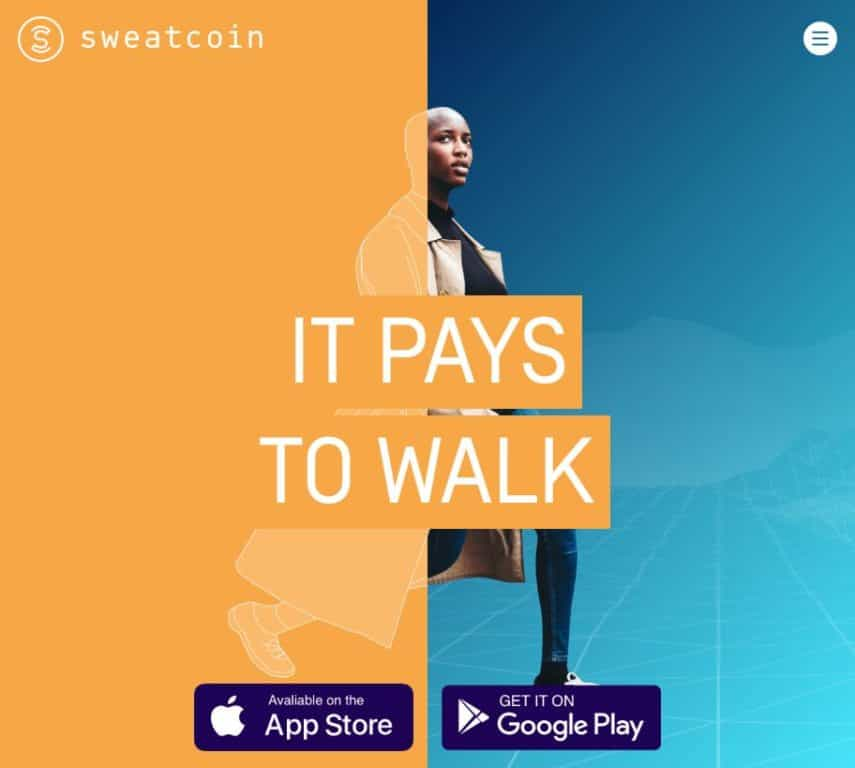 Sweatcoin homepage
