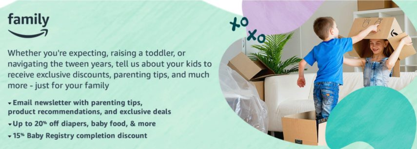 Amazon Family offers up to 20% off baby diapers