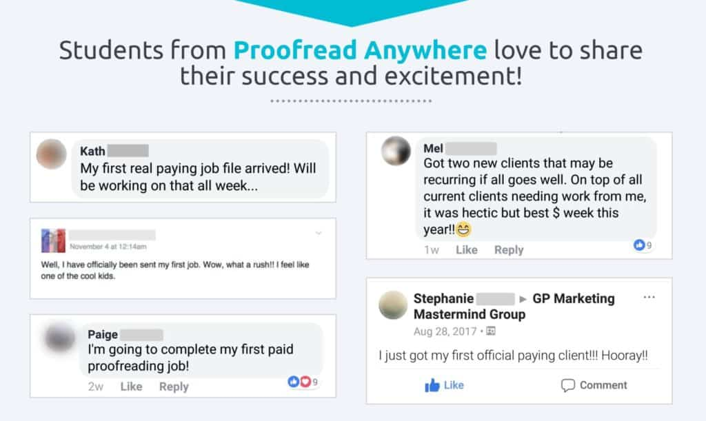proofread anywhere testimonials