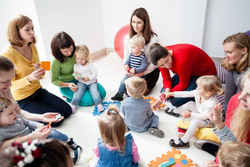 Local mom group swaps childcare items