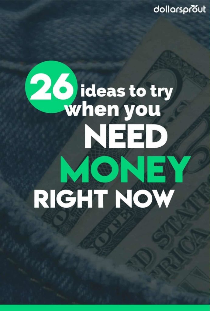 Need money now? Here is a list of 20 ways you can make money right now for free. When you're desperate and urgently need money today, go here to get paid.