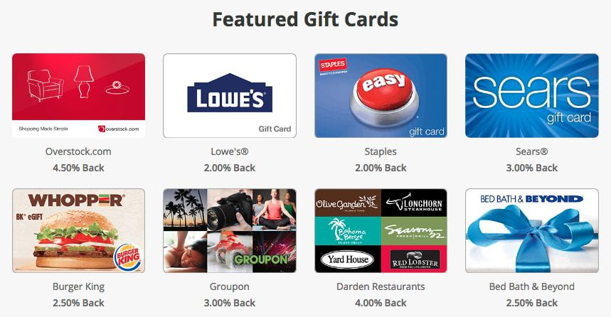 get cashback when you buy featured gift cards through Swagbucks