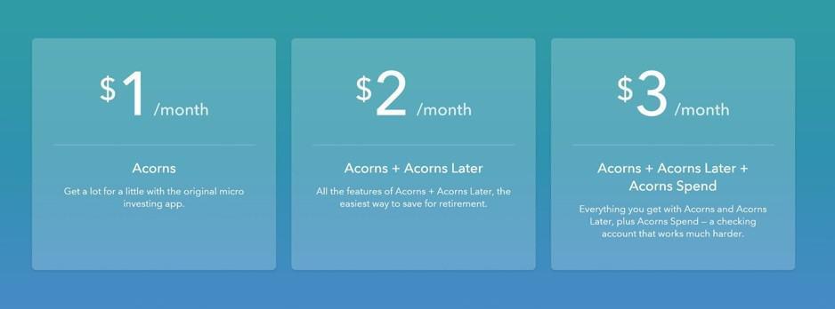 acorns fees plans 2018