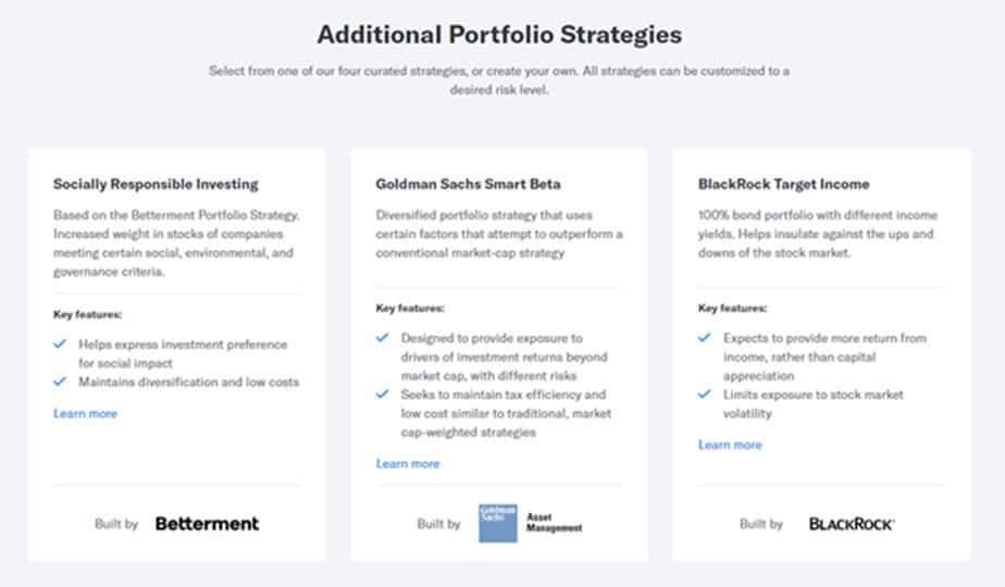 betterment additional portfolios