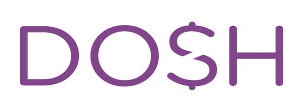 white dosh logo