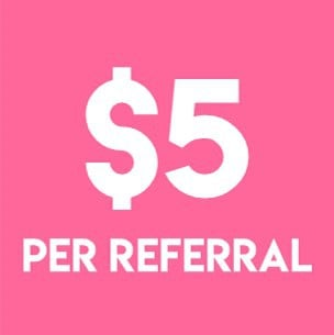 Get $5 instantly for each referral to this app