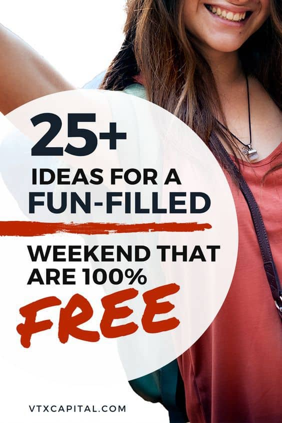 Looking for fun things to do with your friends this weekend? Look no more! This list has 25 AWESOME things you can do without spending a dime. #selflove #selfcare #frugalliving #savemoney