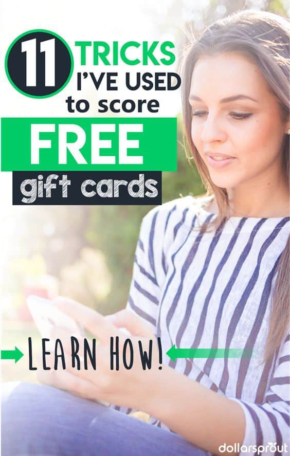 Need free money? Will free gift cards do instead? If so, you're in luck. We'll show you 11 ways you can earn free gift cards without almost no effort at all. free gift cards codes | free gift cards how to get free gift cards | earn free gift cards | win free gift cards | free gift cards apps #freebie #freestuff #makemoney