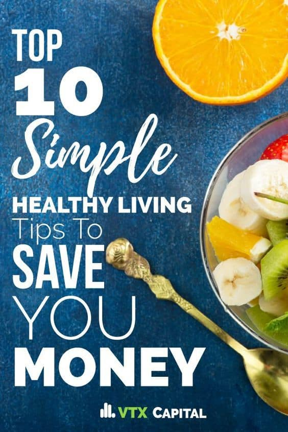 Ready to make simple lifestyle changes that'll help you start losing weight and get you feeling better? This list of healthy living tips is chalk FULL of life hacks, detox ideas and nutrition facts that'll give you all the motivation you need to stay fit, and help you save money while doing it. #healthyliving #healthylifestyle #savemoney #frugalliving