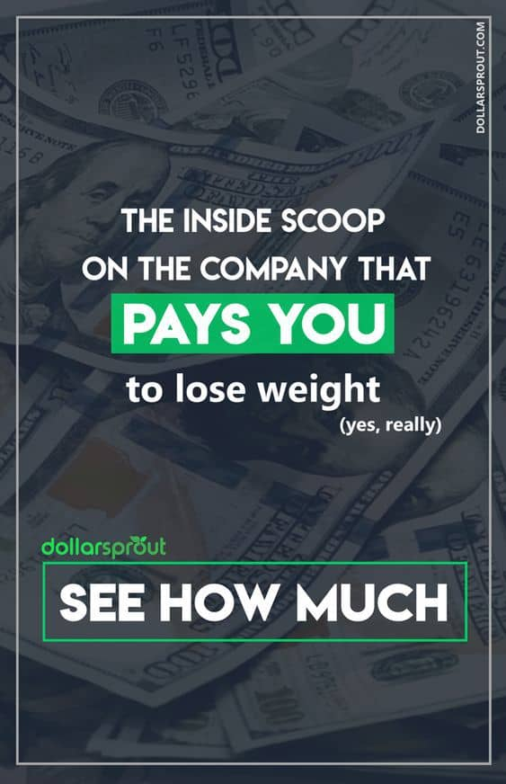 Want to get paid to workout? One company claims they'll pay you up to $10,000 to lose weight fast. Find out of their claim holds up and see if you can really get paid to workout with our HealthyWage Review. #weightloss #loseweightfast #makemoney #dollarsprout
