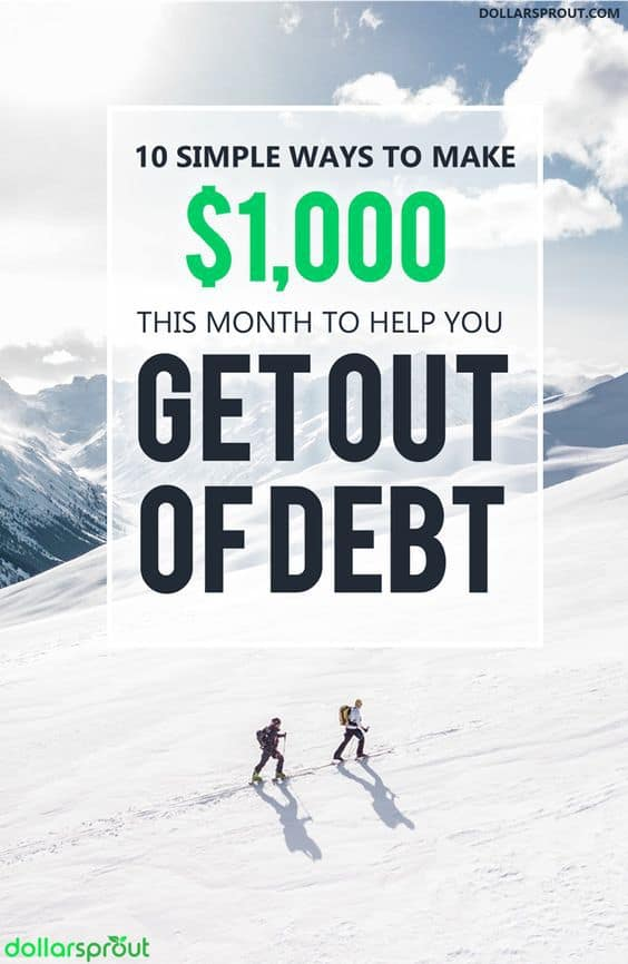 One of the easiest ways to get out of debt fast is simply to make more money. Being frugal, living within your means and learning how to save money are important, but nothing pays of debt faster than a good side hustle. Learn how to make $1,000 fast so you can quickly and easily pay off debt.