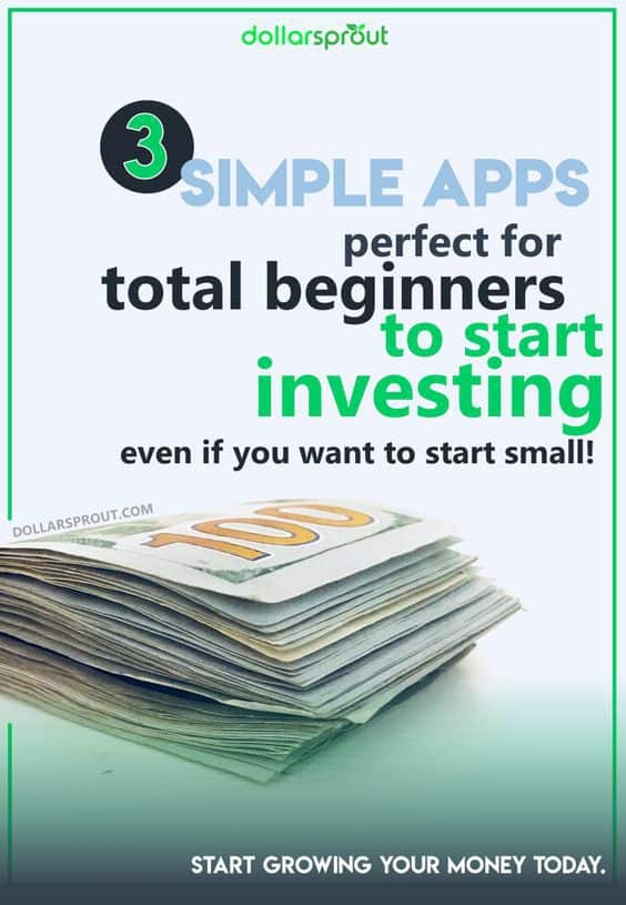 Want to learn how to invest money online even if you're a total beginner? These 3 free apps designed for beginners make investing super easy. You'll learn how to invest in stocks, bonds and ETFs even if you only have a few dollars! #investing #dollarsprout